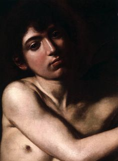 "detail of the young saint from ""Saint John the Baptist"" 1610 #Caravaggio - Galleria Borghese, Rome"