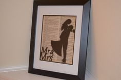 Mr and Mrs Print; Dictionary Print; Newlywed Decor by ChristinaMarieCrafts on Etsy https://www.etsy.com/listing/254007138/mr-and-mrs-print-dictionary-print