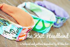 These headbands are so easy to make and comfortable too!