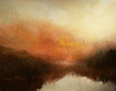 """Hudson River Sundown"" oil on canvas  24""x30"""