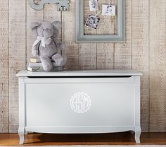 Claudia Toy Chest, Vintage Soft Gray