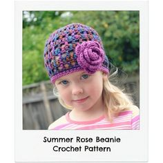 Summer Rose Beanie Pattern from CrazySocks Crochet  @Danyel Thompson Pink