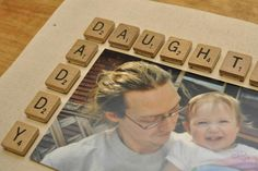 cute daddy-daughter frame idea