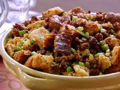 Sausage brioche dressing. This is the recipe we use every year!!