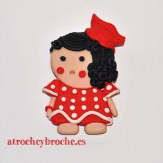 Broche de muñeca de arcilla polimérica #polymerclay #polyclay