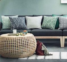 salon-verde-y-gris Ottoman, Loft, Chair, Mini, Furniture, Home Decor, Palette, Home Decorations, Interior Colors