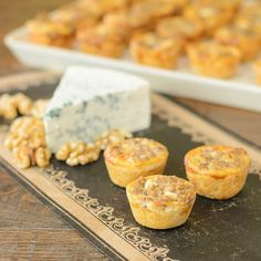 It wouldn't be a birthday party without a little something.... Blue Cheese Walnut Tarts for #SundaySupper