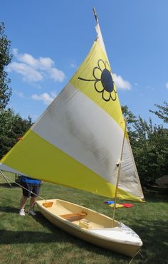 Sunflower brand sailboat. I had one of these as a kid. Great boat!