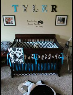Soho Blue Moo Chenille Baby Crib Nursery Bedding Set 10 Pieces Http Www Jennisonbeautysupply Results And Google Images