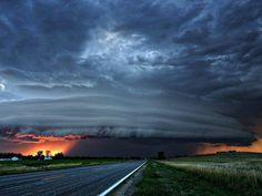 Beautiful sunset and Thunderstorm