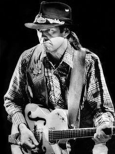 Neil Young performing at the Grand Ole Opry, Nashville in 1984