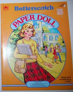 Butterscotch 1983 Paper Doll by CheekyVintageCloset on Etsy, $12.50