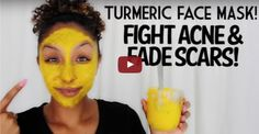 "Rub this DIY ""turmeric face mask"" into skin - you will be amazed! M..."