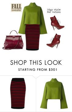 """""""Fall sweater"""" by fashionrushs ❤ liked on Polyvore featuring Marc by Marc Jacobs, Bally and Aspinal of London"""