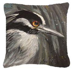 Night Heron Indoor/Outdoor Throw Pillow