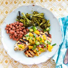 Grilled Tilapia with Orange-Avocado Salsa by foodiebride, via Flickr