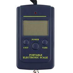 ポータブル40キログラム/10グラム電子吊り釣りデジタルポケット重量フックスケール送料無料