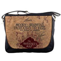"""Marauders Map Harry Potter Hogwarts14"""" Messenger Laptop Notebook Tablet Computer School Sling Shoulder Bag Handbag Tote Custom Made"""