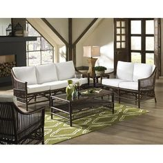 Panama Jack Sunroom Bora Bora Lounge Chair with Cushion Color: Harwood Peri
