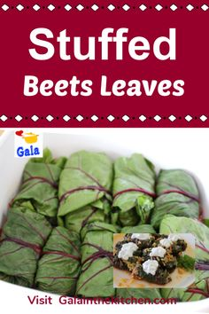 Stuffed beets greens with meat and rice recipe. Beet leaves slightly sour and great for stuffing. Serve with sour cream or sauce from sour cream. Check the recipe on my website Galainthekitchen.com #beet #beets #beetsgreenrecipe #beetsgreens #beetleaves #russianfood #stuffedbeetsgreens #recipe #food #delicious #cooking Rice Recipes, Vegetable Recipes, Meat Recipes, Healthy Recipes, Vegetable Dishes, Beet Leaf Recipes, Beet Green Recipes, Friend Recipe, Russia