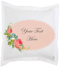 Shabby Vintage Peonies Bluebird Pink Polka Dot Oval Scalloped Frame Digital Image Download Sheet Transfer To Totes Pillows Tea Towels Shirts