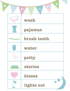 FREE Bedtime Routine printable from Love and Life Cards …