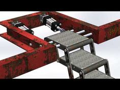 Foldable stair mechanism - YouTube