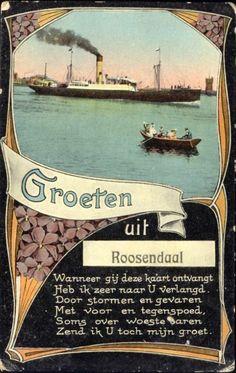 Groeten uit Roosendaal, prentbriefkaart, circa 1900.