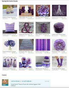 Spring into some Purple~Treasury   https://www.etsy.com/treasury/NTc4Nzk3NDl8MjcyNDc3NjkwOQ/spring-into-some-purple  #junkyardblonde