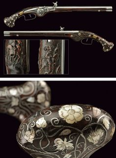 A rare pair of wheel-lock pistols:    	Southern Germany dating:	 	mid-17th Century.