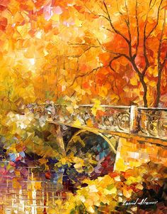 The Embassay Of Autumn - Palette Knife Oil Painting On Canvas By Leonid Afremov Painting by Leonid Afremov