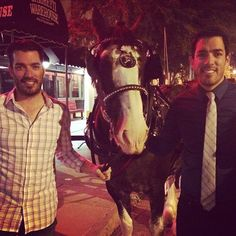 @mrsilverscott and I had a feeling of nostalgia on this night. Reminded us of growing up on the family ranch! Clydesdales are beautiful animals!