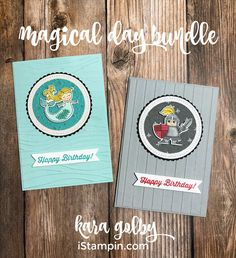 I know I've been saying how much fun I'm enjoying the Occasions catalog recently and this bundle, Magical Day, has become one of my all time favorites!! The images are precious and coloring them in with the Stampin' Blends is a cinch! I created two versions for today's project, a girl birthday card and a …