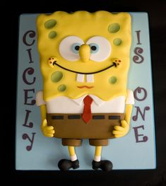 Spongebob cake! This one is really well done! I don't think that I have seen a better one.