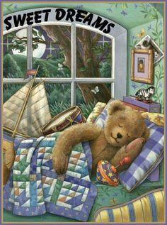 Teddy Bear by Linda Hill Griffith Tatty Teddy, Teddy Bear Hug, Cute Teddy Bears, Teddy Beer, Bear Paintings, Teddy Bear Pictures, Bear Illustration, Nighty Night, Bear Wallpaper