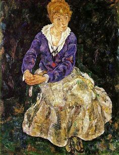 Egon Schiele  Portrait of Edith Schiele