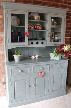 Annie Sloan Duck Egg Loving her paint just now - Model Home Interior Design Decor, Interior, Redo Furniture, Painted Furniture, Home, House Interior, Kitchen Dresser, Furniture Makeover, Shabby Chic Furniture