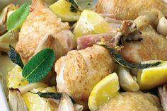 Das Rezept für Hähnchen mit Zitrone mit allen nötigen Zutaten und der einfachsten Zubereitung - gesund kochen mit FIT FOR FUN