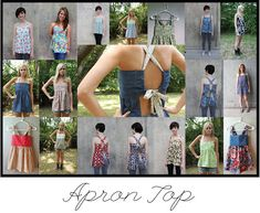 Apron Top Tutorial - I need to figure out how to close this in in the back & make a dress out of it. Very cute!