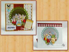 Art Impressions: Fronts and Backs: Maturing Set (Sku#4570), handmade birthday card.  window