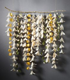 Paper flower curtain... @Katie Hrubec Brewer this is what I was talking about! But of course it would be prettier lol!