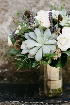 Gorgeous Succulent Bridal Bouquet | Dan Stewart Photography on @fabyoubliss via @aislesociety