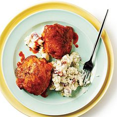 Buffalo Chicken Thighs Recipe.  A big hit with John.