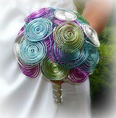 Alternative wedding bouguet Rainbow time by wandadesign on Etsy, €70.00