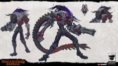 View an image titled 'Strife Havoc Form Art' in our Darksiders Genesis art gallery featuring official character designs, concept art, and promo pictures. Game Character Design, Fantasy Character Design, Character Design Inspiration, Character Concept, Character Art, Dnd Characters, Fantasy Characters, Darksiders Horsemen, Darksiders Death
