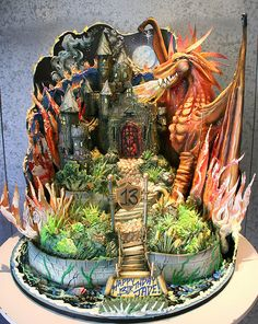 dungeons and dragons cake. L.O.L.
