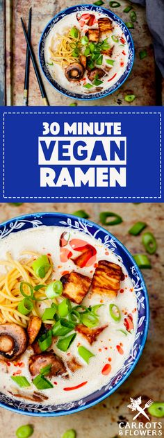 INCREDIBLE Vegan Ramen thats ready in just 30 minutes Savory rich perfectly flavored Easy glutenfree dinner recipe thats healthy and so delicious Vegetarian Recipes Dinner, Delicious Vegan Recipes, Dinner Recipes, Healthy Recipes, Dinner Ideas, Veggie Dinner, Healthy Eats, Healthy Foods, Vegan Dishes