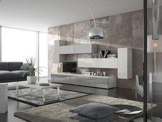 #Salón de líneas simples y moderna. Recuerda que en #decoracion, menos es más.