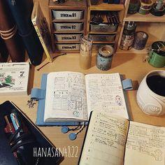 hanasan48224月は#ほぼ日手帳avec と#能率手帳ゴールド に書いてることを交換して使ってみます↔ ・ ・ 理由は、ゴールドをもっとたくさん触りたいからw  特に体調が悪くなければ、朝に1度しか開かなかったりする手帳なんです  食事内容は元々オリジナルに詳しく書いてあって、ゴールドには評価だけを移してたので1冊にまとめられるのは好都合♪  ゴールドで使ってたハンコをオリジナルの左ページに色々と試し押してみて遊んでみました(^w^)♪ ・ ・  恐らく使い辛さの方が大きいかもしれませんが、取り合えず1ヶ月間思う存分ゴールドを触りまくって✨色々試してみたいと思います2017/04/07 05:06:05