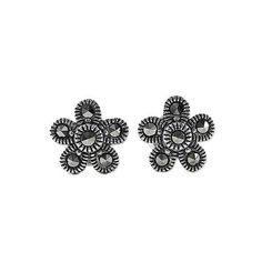 NOVICA Sterling Silver and Marcasite Flower Stud Earrings ($23) ❤ liked on Polyvore featuring jewelry, earrings, clothing & accessories, silver tone, stud, sparkly stud earrings, flower jewellery, novica earrings, novica jewelry and sterling silver jewellery